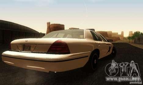 Ford Crown Victoria Washington Police para GTA San Andreas left