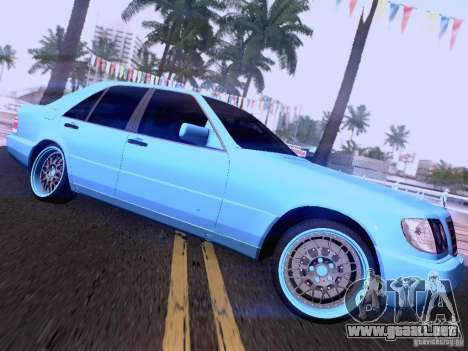 Mercedes-Benz S-Class W140 para la vista superior GTA San Andreas