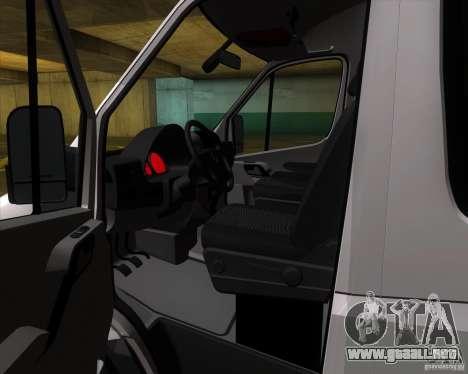 Mercedes-Benz Sprinter 311CDi para visión interna GTA San Andreas
