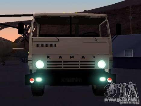 KAMAZ 53212 abierto para visión interna GTA San Andreas