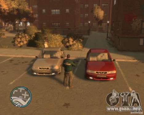 Daewoo Nexia DOHC para GTA 4 vista hacia atrás