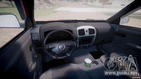 Chevrolet Colorado 2005 para GTA 4 vista hacia atrás