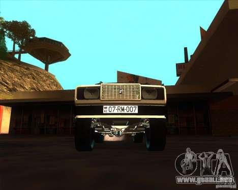 VAZ 2107 Azeri Style para visión interna GTA San Andreas