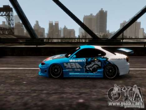 Nissm Silvia S15 Blue Tiger para GTA 4 Vista posterior izquierda
