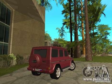 Mercedes-Benz G500 1999 miembro para GTA San Andreas left