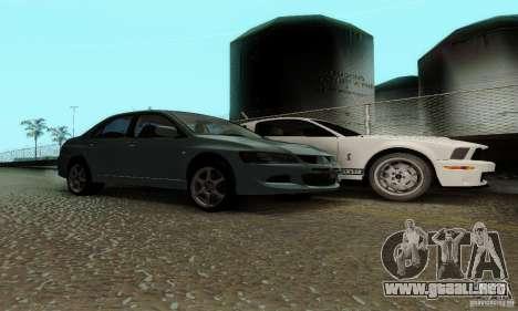 Mitsubishi Lancer Evolution 8 Tuneable para la visión correcta GTA San Andreas