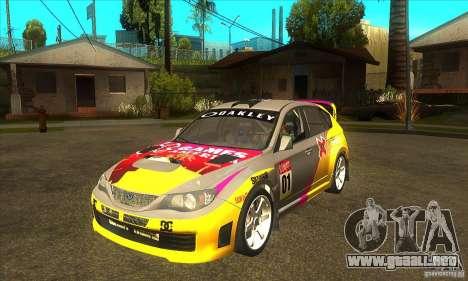 Subaru Impreza WRX STi X Juegos América de DIRT  para GTA San Andreas
