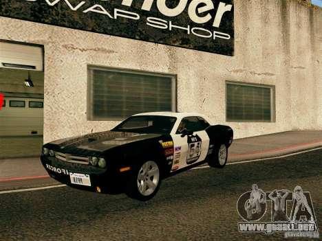 Dodge Challenger SRT8 para la vista superior GTA San Andreas