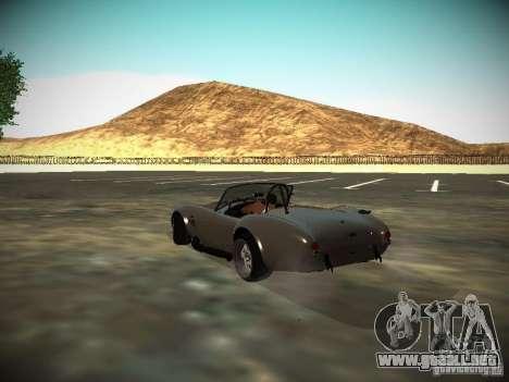 Shelby Cobra para GTA San Andreas vista posterior izquierda
