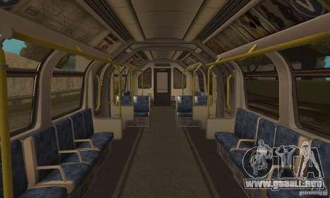 London Metro para GTA San Andreas vista posterior izquierda