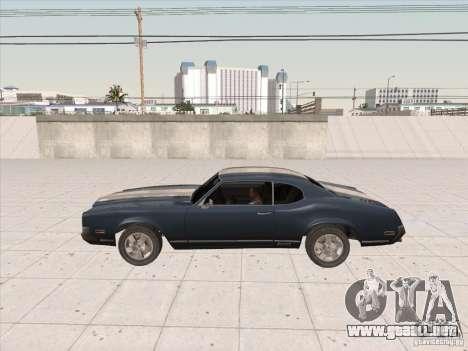 Sabre HD para GTA San Andreas vista posterior izquierda