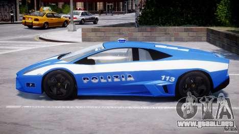 Lamborghini Reventon Polizia Italiana para GTA 4 vista desde abajo