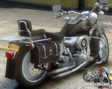 Harley Davidson FLSTF Fat Boy para GTA 4 Vista posterior izquierda