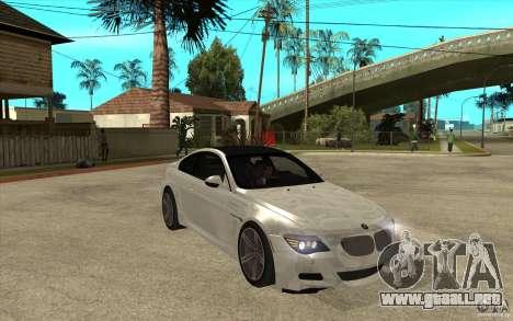 BMW M6 Coupe V 2010 para GTA San Andreas vista hacia atrás