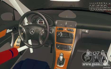 Mercedes-Benz C32 AMG Tuning para la vista superior GTA San Andreas
