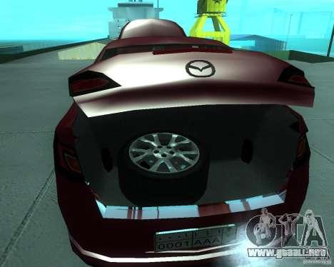 Mazda 6 2010 para GTA San Andreas vista hacia atrás