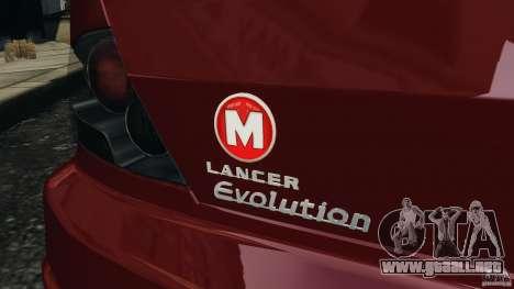 Mitsubishi Lancer Evolution 8 para GTA 4 vista superior