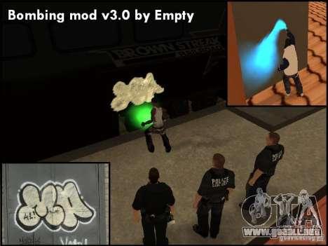 Bombing Mod by Empty v3.0 para GTA San Andreas sucesivamente de pantalla