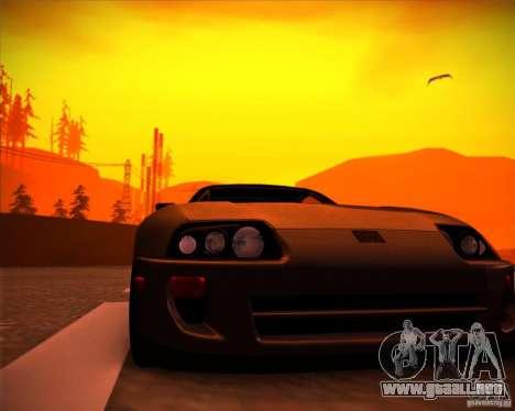 Toyota Supra SHE para la visión correcta GTA San Andreas