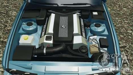 BMW E34 V8 540i para GTA 4 vista desde abajo