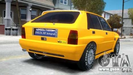 Lancia Delta HF Integrale para GTA 4 visión correcta