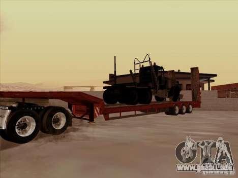 Remolque Volvo VNL 670 para GTA San Andreas vista hacia atrás