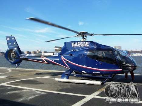 Eurocopter EC130B4 NYC HeliTours REAL para GTA 4 vista superior