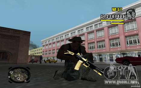 Gold Weapon Pack v 2.1 para GTA San Andreas sucesivamente de pantalla