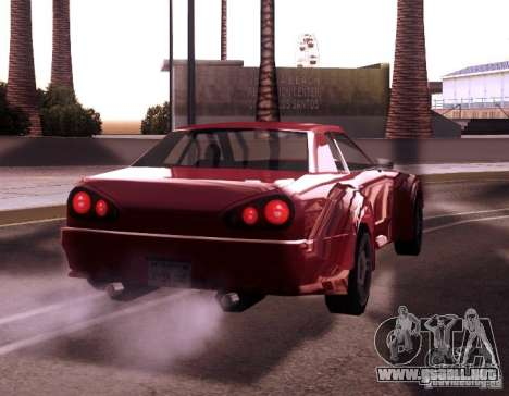 Elegy Wide Body para GTA San Andreas vista posterior izquierda