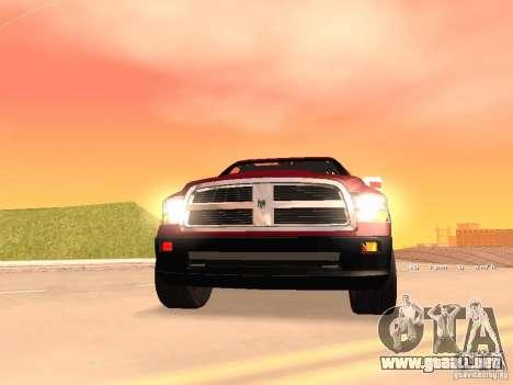 Dodge Ram 2010 para GTA San Andreas vista hacia atrás