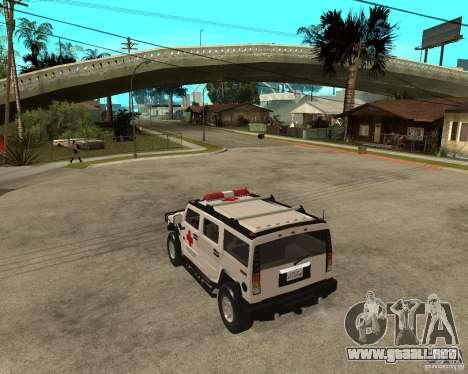 AMG H2 HUMMER - RED CROSS (ambulance) para GTA San Andreas left