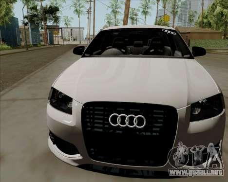 Audi S3 V.I.P para GTA San Andreas vista posterior izquierda