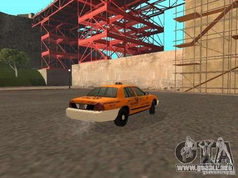 Ford Crown Victoria San Francisco Cab para GTA San Andreas vista hacia atrás