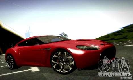Aston Martin V12 Zagato Final para vista inferior GTA San Andreas
