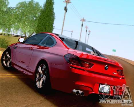BMW M6 2013 para GTA San Andreas interior