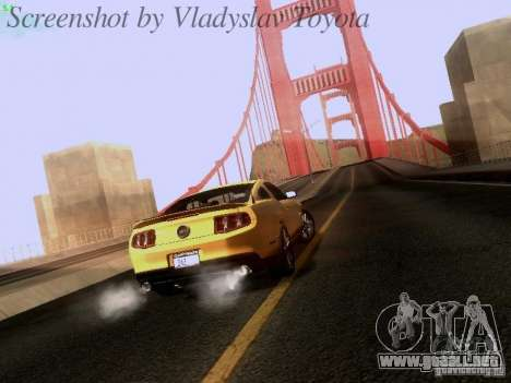 Ford Mustang GT 2011 para GTA San Andreas left