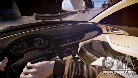 Audi A6 v1.0 para GTA 4 vista hacia atrás