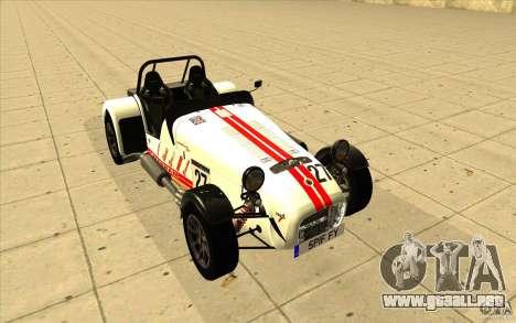 Caterham Superlight R500 para las ruedas de GTA San Andreas