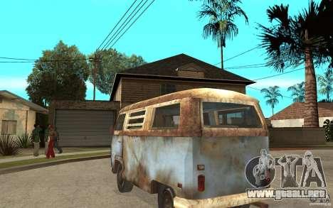 Dharma-Van (VW Typ 2 T2a) para GTA San Andreas vista posterior izquierda