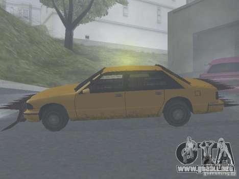 Zombie Taxi para GTA San Andreas vista posterior izquierda