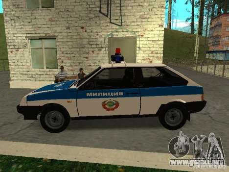 VAZ 2108 policía para GTA San Andreas left
