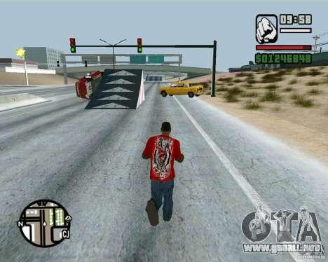 Salta sobre la autopista, en Las Venturase para GTA San Andreas sucesivamente de pantalla