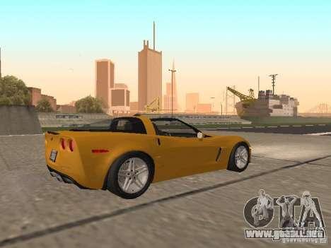Chevrolet Corvette Z06 para la visión correcta GTA San Andreas