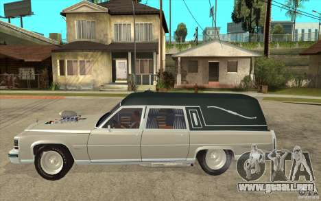 Cadillac Fleetwood 1985 Hearse Tuned para GTA San Andreas left