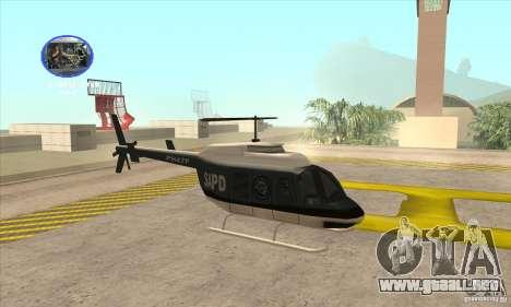 Police Maverick 2 para GTA San Andreas vista posterior izquierda