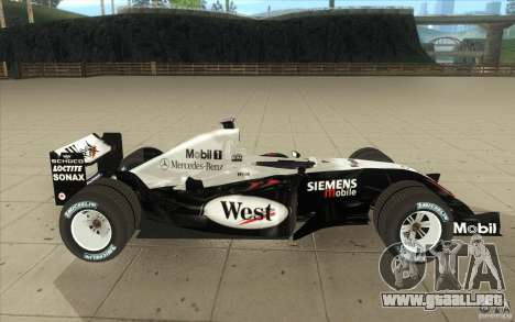 McLaren Mercedes MP 4-19 para visión interna GTA San Andreas