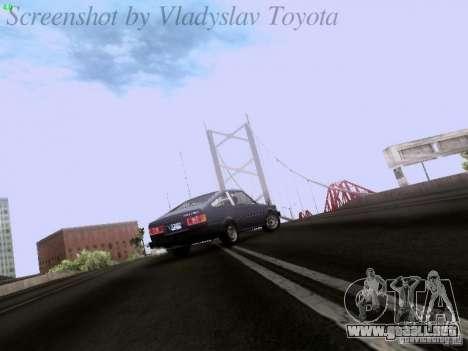 Toyota Corolla TE71 Coupe para visión interna GTA San Andreas