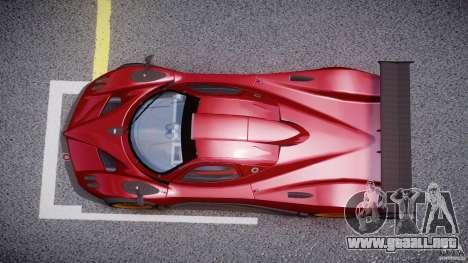 Pagani Zonda R para GTA 4 visión correcta