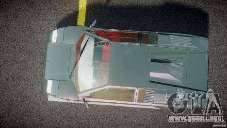 Lamborghini Countach v1.1 para GTA 4 visión correcta