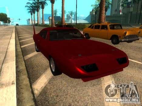 Dodge Charger Daytona Fast & Furious 6 para GTA San Andreas left